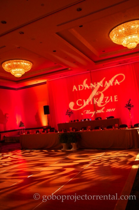 marriott greenbelt maryland red uplighting monogram texture lighting ballroom