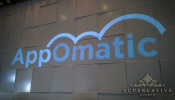 Appomatic logo product launch party