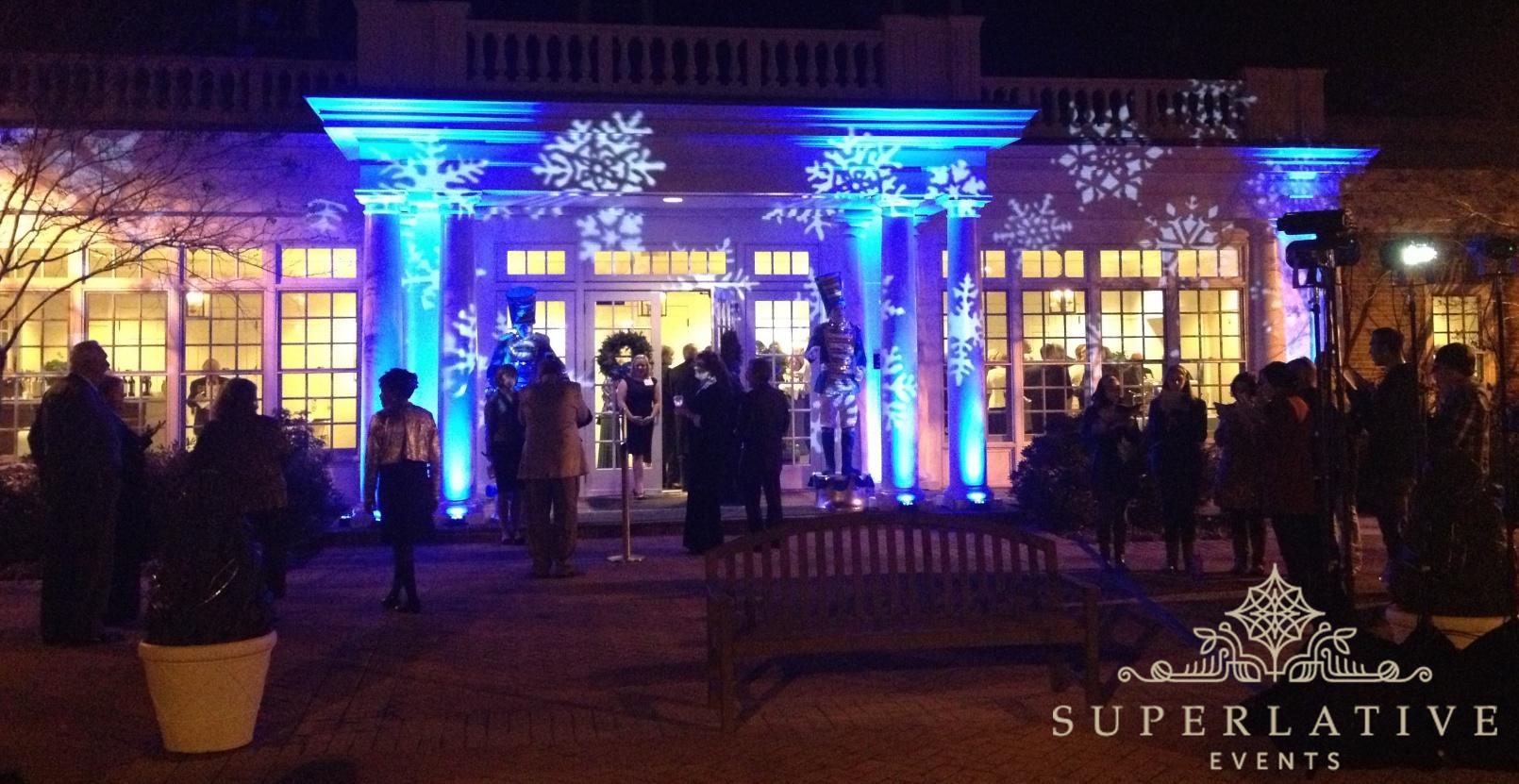 Snowflake Lighting Rental Holiday Party