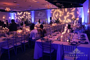 Large Winter Wedding Monogram Light Amp Wireless Uplighting
