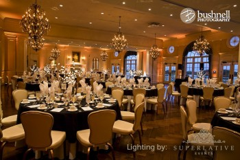 amber uplighting at the Army Navy Country Club in Arlington, VA