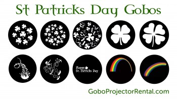 st. patricks day gobos stock templates