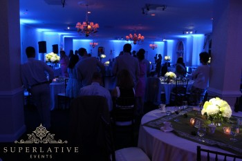Evergreen Country Club Haymarket, VA Wedding Reception Lighting